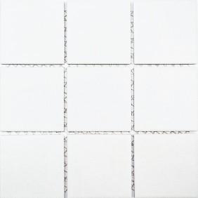 Keramik Mosaik Uni weiss 10x10cm Antislip Rutschfest R10B