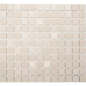 GroB Keramik Mosaik 4mm Uni Beige 2,5x2,5cm Antislip Rutschfest