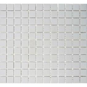 Keramik Mosaik 4mm Uni Grau 2,5x2,5cm  Antislip Rutschfest