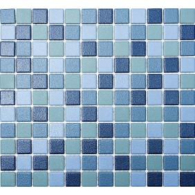 Keramik Mosaik 4mm Blau Mix 2,5x2,5cm  Antislip Rutschfest