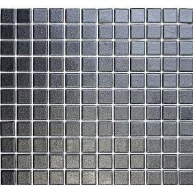 Keramik Mosaik 4mm Schwarz 2,5x2,5cm  Antislip Rutschfest