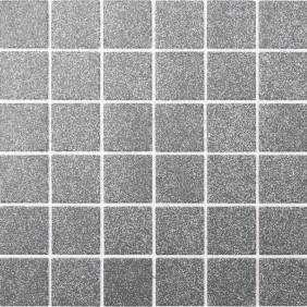 Keramik Mosaik Grau Dotts 4,8x4,8cm Antislip Rutschfest R10C
