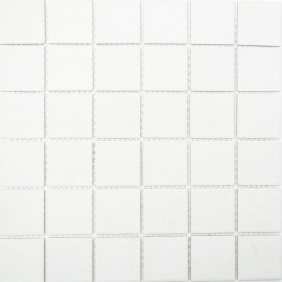 Keramik Mosaik 4mm Weiss 4,8x4,8cm Antislip Rutschfest R10C