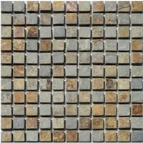 Naturstein Mosaik Schiefer Multicolor 23