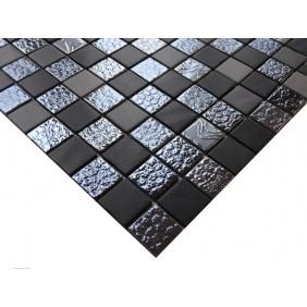 Keramik Mosaik 4 mm Mix II Black Grey