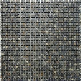 Naturstein Micro Mosaik  8 mm Dunkel Braun
