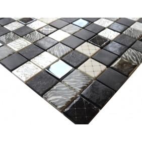 Materialmix Mosaik 4 mm Black Horse
