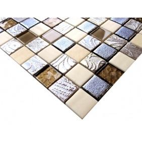 Materialmix Mosaik 4 mm Beige Brown Mix