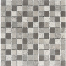 Naturstein Mosaik 8 mm Beton Grau  23