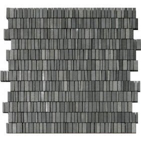 Natustein Mosaik Anthrazit Schwarz Mini Sticks geschliffen