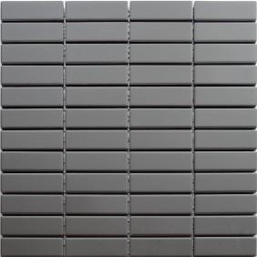 Feinsteinzeug Mosaik 5 mm Dark Grey Brick Antislip