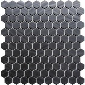 Keramik Mosaik 4 mm Uni Black