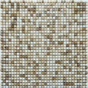 Naturstein Micro Mosaik  8 mm Braun Beige Mix