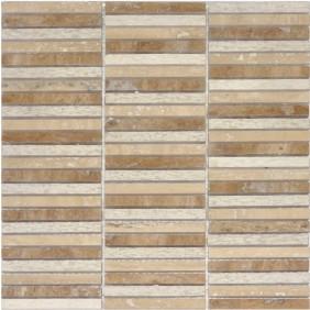 Naturstein Mosaik 8 mm Beige  lines