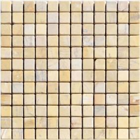 Naturstein Mosaik 8 mm Beige (Sahara Gelb) getrommelt
