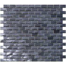 Aluminium Mosaik 4 mm Schwarz (Graphite) Brick