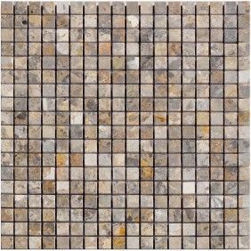 Naturstein Mosaik 8 mm Marron Gold poliert