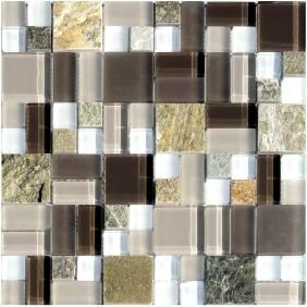 Glas Natursteinmosaik 8 mm Quarzit Beige Multiformat