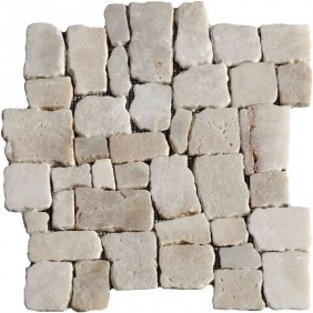 Naturstein Mosaik 8 mm Onyx Römischer Verband getrommelt