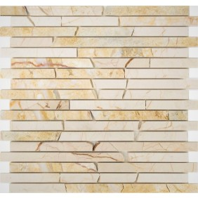 Naturstein Mosaik 8 mm Golden SUN Line 15 poliert