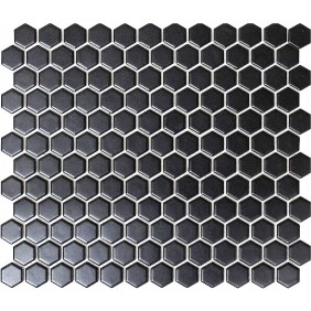 Keramik Mosaik 4 mm Uni Schwarz matt 2,3x2,3 cm