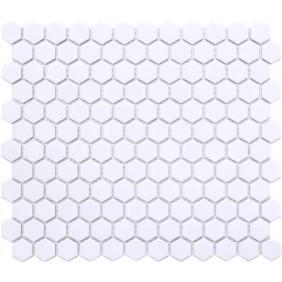 Keramik Mosaik 4 mm Uni Weiss glanz 2,3x2,3 cm