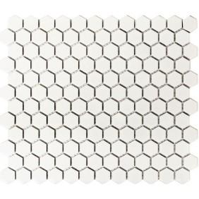 Keramik Mosaik 4 mm Uni Weiss matt 2,3x2,3 cm