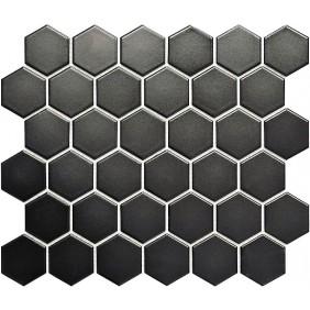 Keramik Mosaik 4 mm Uni Schwarz matt 5,1x5,9 cm