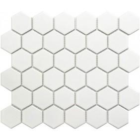 Keramik Mosaik 4 mm Uni Weiss glanz 5,1x5,9 cm