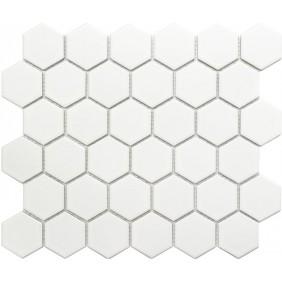 Keramik Mosaik 4 mm Uni Weiss matt 5,1x5,9 cm