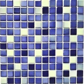 Keramik 4 mm Blau Gelb Mix 2,5x2,5cm