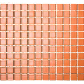 Keramik 4 mm Uni Terracotta matt 2,5x2,5cm