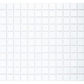 Keramik 4 mm Uni Weiss matt 2,5x2,5cm