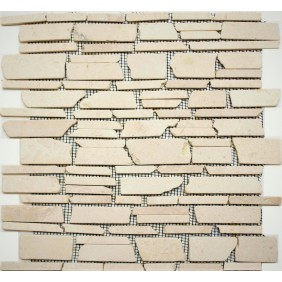 Naturstein Mosaik 8 mm Beige getrommelt
