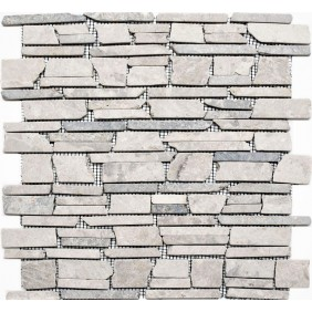 Naturstein Mosaik 8 mm grau getrommelt
