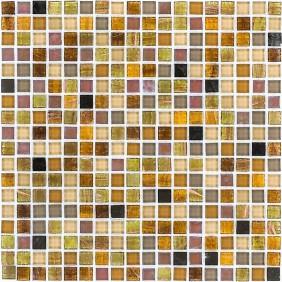 Glas Mosaik 4 mm Perlmutt Braun Mix