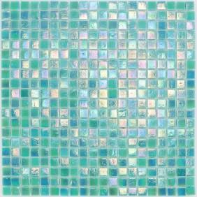 Glas Mosaik 4 mm Perlmutt Hellgrün Aqua Mix