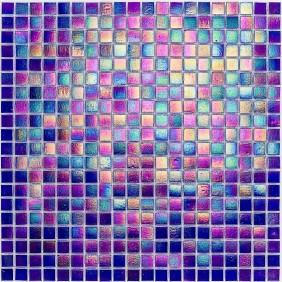 Glas Mosaik 4 mm Perlmutt Dunkelblau