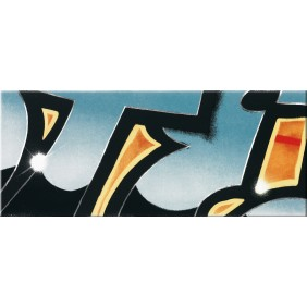 Steuler Dekorfliese Graffiti petrol 3er Set 33x240 cm
