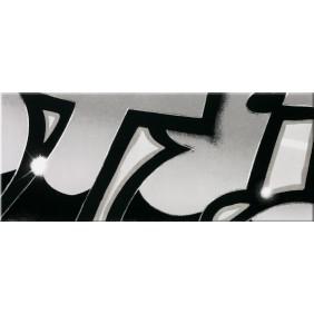 Steuler Dekorfliese Graffiti schwarz-weiß 3er Set 33x240 cm