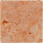 Antik Marmor 1 cm Rot  10x10x1 cm getrommelt