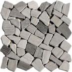 Naturstein Bruchmosaik Grau Holzoptik (Wood)