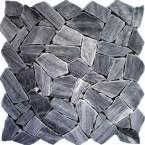 Naturstein Bruchmosaik Grau Griggio auf Netz geklebt