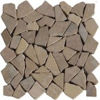 Naturstein Bruchmosaik Grau Beige (Tan)