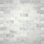 Mini Mauerverblender Tarsos Weiß spaltrau