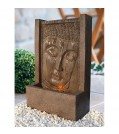 "Heissner Terrassenbrunnen-Set Buddha-Fountain ""brown"" LED"