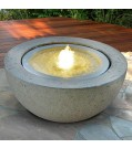 "Heissner Villa Fontania Fountain ""Halfball grey LED"""