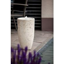 """Heissner Terrassenbrunnen-Set Villa Fontania Fountain """"Vase white LED"""""""