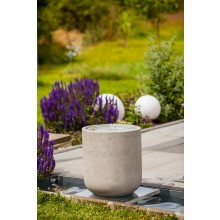 Heissner Villa Fontania Fountain Zylinder cracked grey