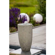"Heissner Terrassenbrunnen-Set Villa Fontania Fountain ""Vase grey LED"""